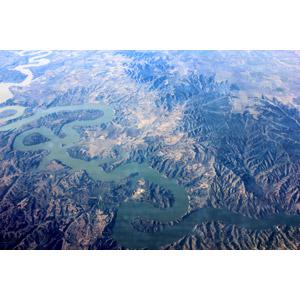 フリー写真, 風景, 自然, 航空写真, 河川, スペインの地形