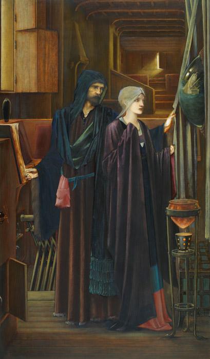 フリー絵画 エドワード・バーン=ジョーンズ作「魔法使い」