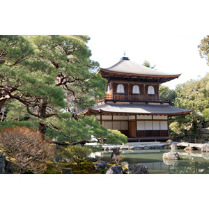 フリー写真, 風景, 建造物, 建築物, 寺院, お寺(仏閣), 銀閣寺(慈照寺), 京都府, 日本の風景, 世界遺産