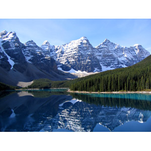 フリー写真, 風景, 自然, 湖, モレーン湖, 山, テンピークス, ロッキー山脈, バンフ国立公園, 世界遺産, カナダの風景, アルバータ州