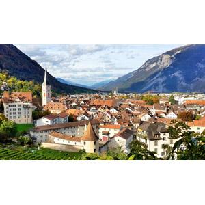 フリー写真, 風景, 建造物, 建築物, 街並み(町並み), 旧市街, 時計台, スイスの風景