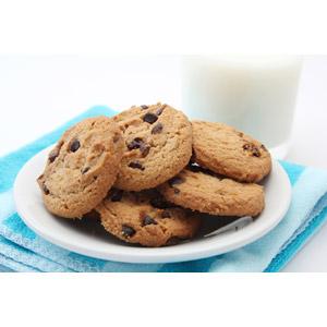 フリー写真, 食べ物(食料), 菓子, 洋菓子, クッキー(ビスケット), 牛乳(ミルク)