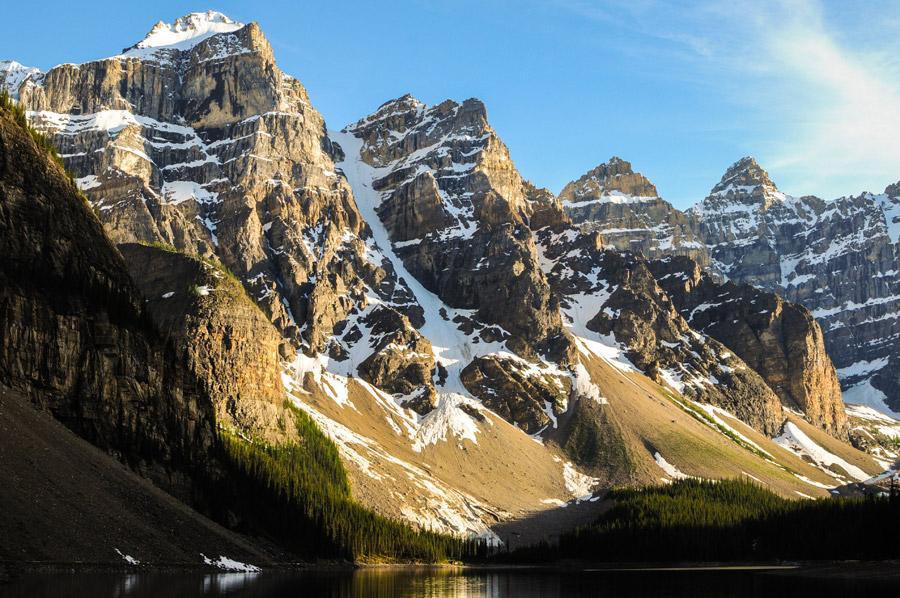 フリー写真 テンピークスの山脈の風景
