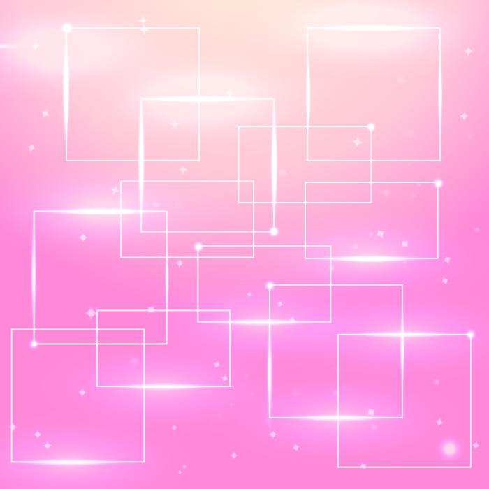 フリーイラスト ピンク色の枠の背景