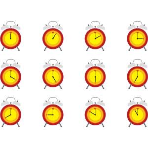 フリーイラスト, ベクター画像, EPS, 時計, 時間, 計測機器, 目覚まし時計