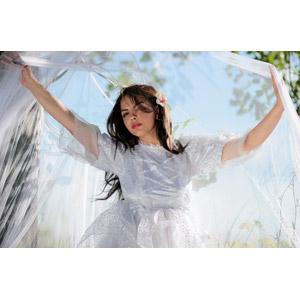 フリー写真, 人物, 女性, 外国人女性, 女性(00234), ルーマニア人, ドレス, ベール