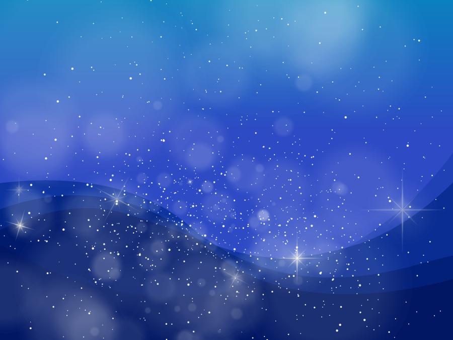 フリーイラスト 星の輝く夜空の背景