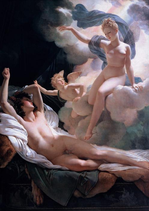 フリー絵画 ピエール=ナルシス・ゲラン作「モルフェウスとイリス」