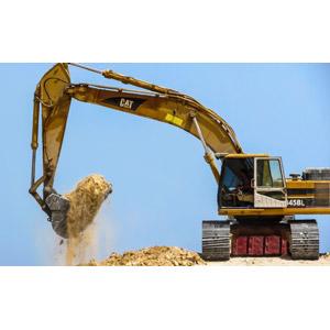 フリー写真, 建設機械(重機), ショベルカー(ユンボ), 土木, 工事, 掘る