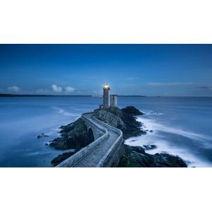 フリー写真, 風景, 建造物, 建築物, 灯台(ライトハウス), 橋, 海岸, 海, フランスの風景