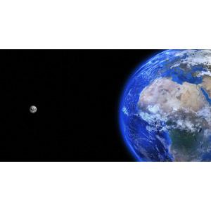 フリーイラスト, 宇宙, 天体, 惑星, 地球, 月