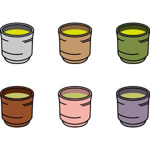 フリーイラスト, ベクター画像, EPS, 飲み物(飲料), お茶, 緑茶(日本茶), 湯呑茶碗