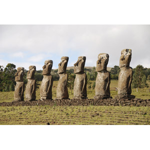 フリー写真, 風景, 遺跡, 彫像, モアイ像, 世界遺産, チリの風景, イースター島
