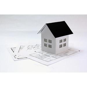 フリー写真, 設計図, 住宅, マイホーム, 家(一軒家), 白背景
