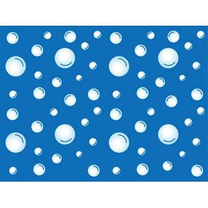 フリーイラスト, ベクター画像, AI, 背景, 水, 泡, 青色(ブルー)