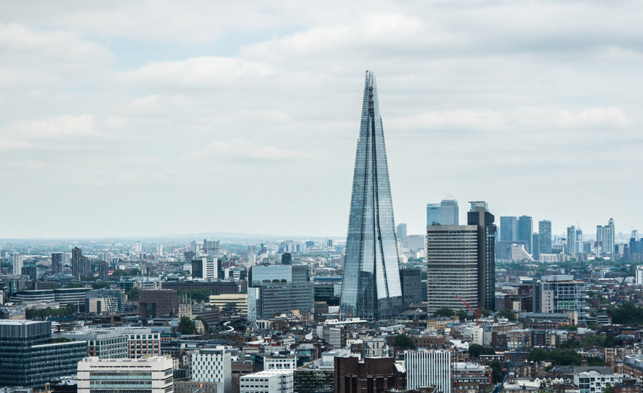 フリー写真 ザ・シャードとロンドンの都市風景