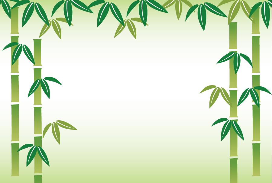フリーイラスト 竹の飾り枠