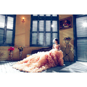 フリー写真, 人物, 女性, アジア人女性, 中国人, ウェディングドレス, 結婚式(ブライダル), 花嫁(新婦), 横顔