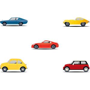フリーイラスト, ベクター画像, AI, 乗り物, 自動車, スポーツカー, フィアット, フィアット・500, ミニ(BMW)