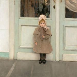 フリー絵画, フェルナン・クノップフ, 肖像画, 子供, 女の子, 外国の女の子
