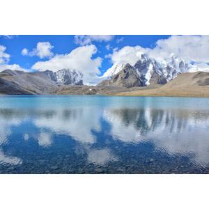 フリー写真, 風景, 自然, 湖, 山, ヒマラヤ山脈, インドの風景, 中国の風景, パンゴン湖