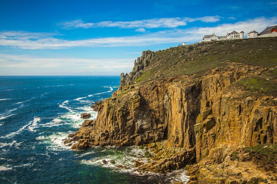 フリー写真 ランズエンド岬の崖の風景