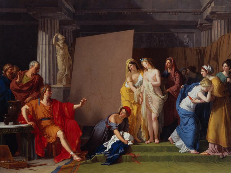 フリー絵画 フランソワ=アンドレ・ヴァンサン作「ヘレネのイメージに合うモデルを選ぶゼウクシス」