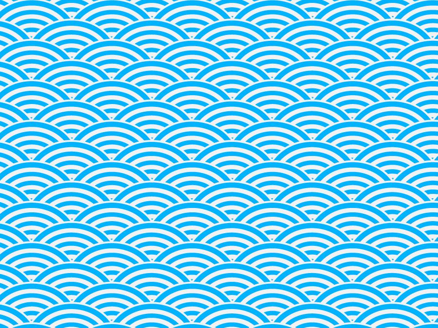 フリーイラスト 青海波文様の和柄の背景