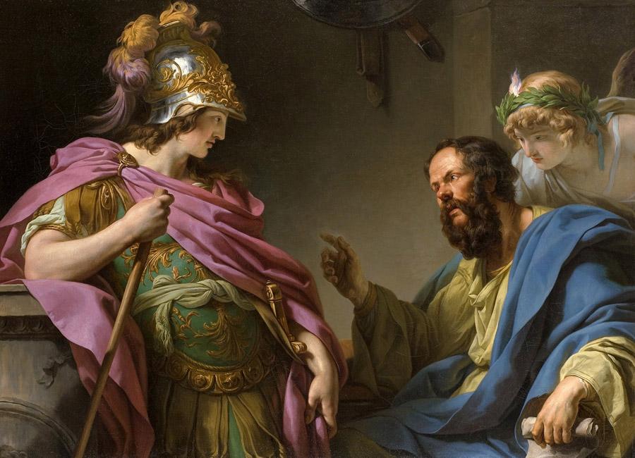 フリー絵画 フランソワ=アンドレ・ヴァンサン作「ソクラテスにシケリア遠征の中止を説かれるアルキビアデス」