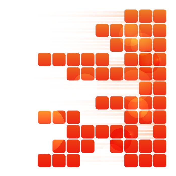 フリーイラスト オレンジ色のタイル状の背景