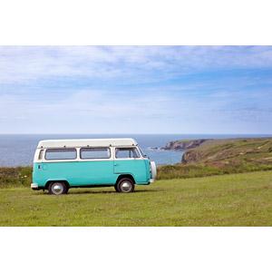 フリー写真, 乗り物, 自動車, フォルクスワーゲン, ワーゲンバス, 海岸, 海