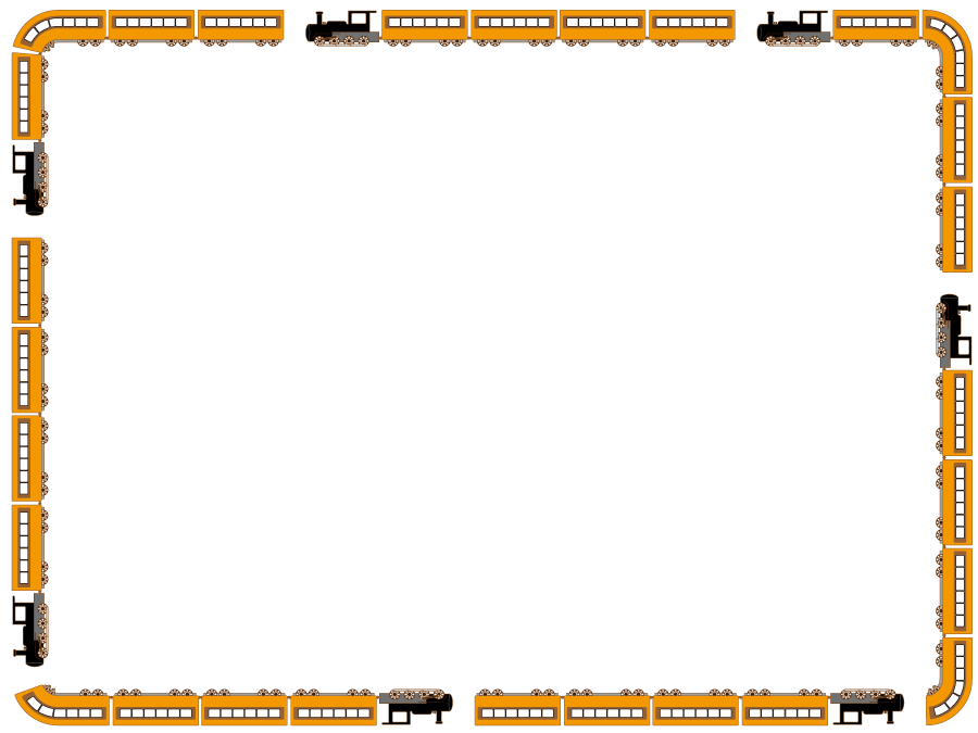 フリーイラスト 蒸気機関車の囲みフレーム