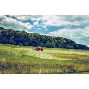 フリー写真, 風景, 畑, 田舎, トラクター, ドイツの風景