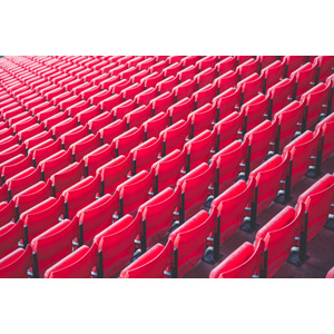 フリー写真, 風景, 観客席, サッカースタジアム, アンフィールド, リヴァプール, 赤色(レッド)
