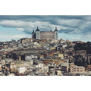 フリー写真, 風景, 建造物, 建築物, 旧市街, 街並み(町並み), 城, スペインの風景, トレド, 世界遺産
