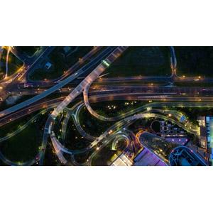 フリー写真, 風景, 建造物, 高速道路, 道路, 日暮れ, アメリカの風景, ニュージャージー州