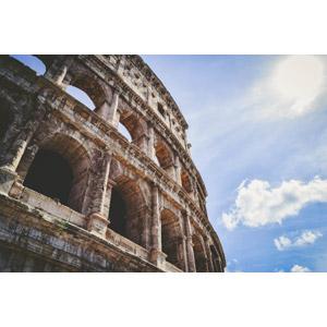 フリー写真, 風景, 建造物, 建築物, 円形闘技場, コロッセオ, 遺跡, イタリアの風景, ローマ, 世界遺産