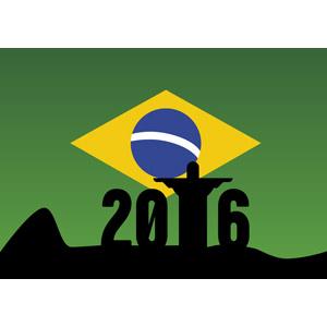 フリーイラスト, ベクター画像, AI, 背景, オリンピック, リオデジャネイロオリンピック, ブラジルの国旗