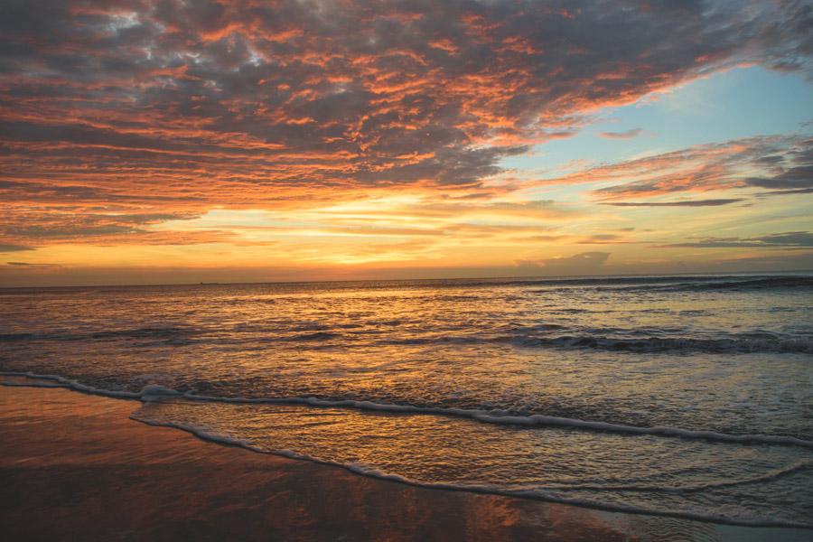 フリー写真 夕暮れのバージニアビーチの海の風景