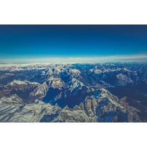 フリー写真, 風景, 自然, 山, 青空, アルプス山脈, イタリアの風景
