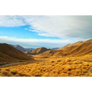 フリー写真, 風景, 山, 荒野, 雲, ニュージーランドの風景