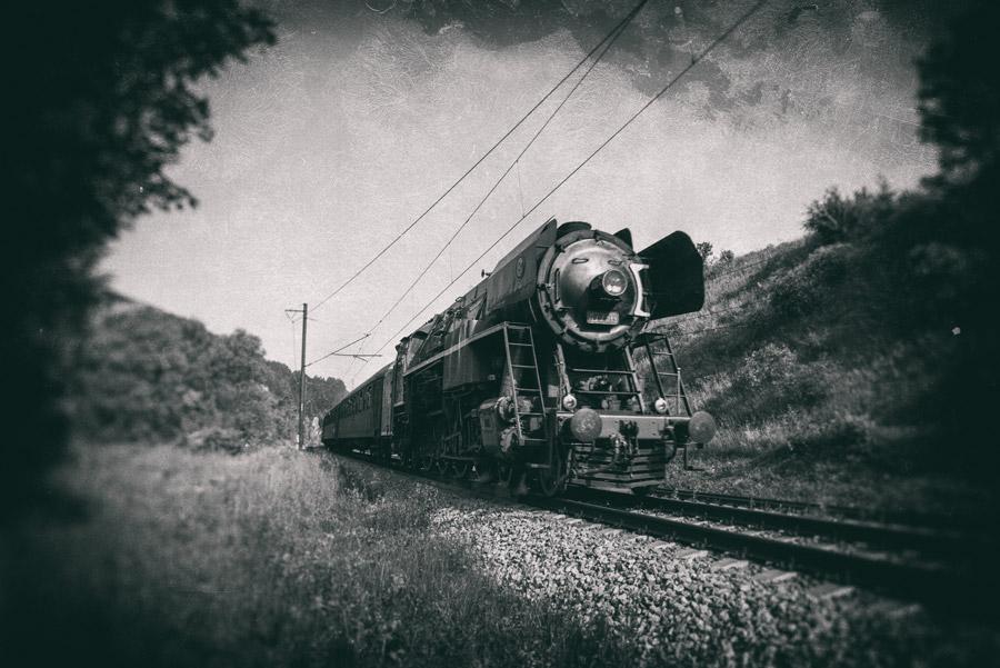 フリー写真 スロバキア国鉄の477型蒸気機関車