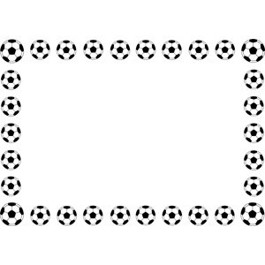 フリーイラスト, ベクター画像, EPS, 背景, フレーム, 囲みフレーム, スポーツ, 球技, サッカー, サッカーボール