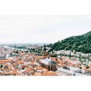 フリー写真, 風景, 建造物, 建築物, 旧市街, 街並み(町並み), 教会(聖堂), ドイツの風景, ハイデルベルク