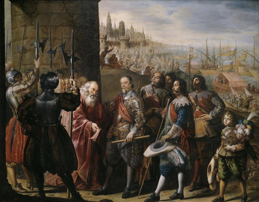 フリー絵画 アントニオ・デ・ペレーダ作「サンタ・クルス侯爵によって奪還されるジェノヴァ」