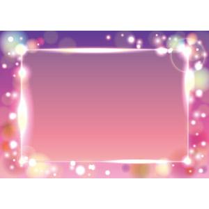 フリーイラスト, ベクター画像, AI, 背景, フレーム, 囲みフレーム, 光(ライト), 玉ボケ, ピンク色