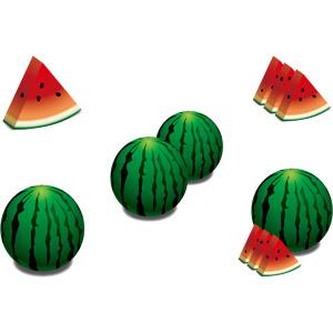 フリーイラスト, ベクター画像, AI, 食べ物(食料), 果物(フルーツ), 西瓜(スイカ)