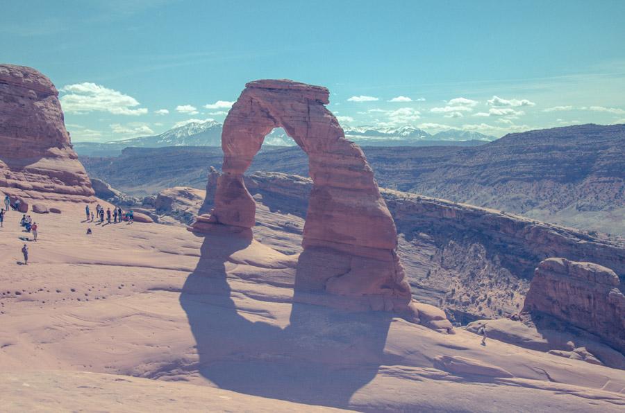 フリー写真 アーチーズ国立公園のデリケート・アーチ
