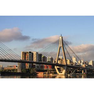 フリー写真, 風景, 建造物, 建築物, 高層ビル, 都市, 街並み(町並み), 橋, オーストラリアの風景, シドニー