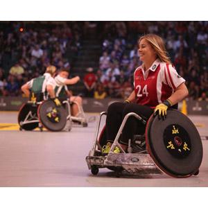 フリー写真, 人物, 女性, 外国人女性, 車椅子, 障碍者(障害者), スポーツ, 車椅子競技, ウィルチェアーラグビー